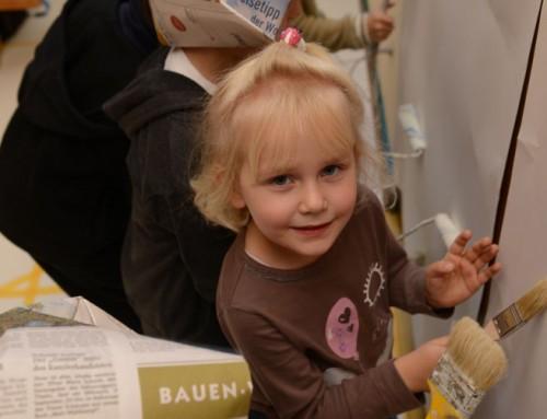 Kath. Kindergarten St. Matthias: Anstrich der Turnhalle