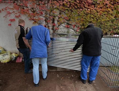 Kita St. Paulin: Eine neue Lagermöglichkeit für die gelben Säcke