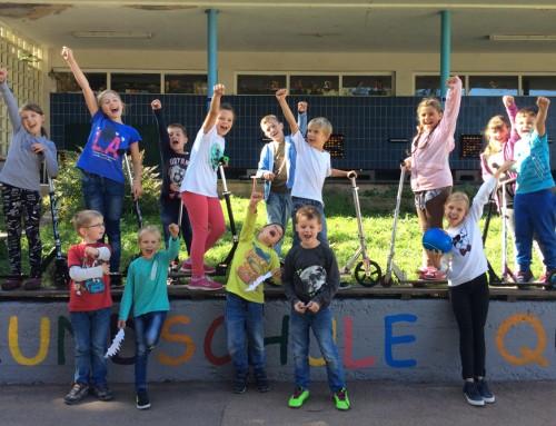 Grundschule Trier-Quint: Aufbereitung der Schulmauer
