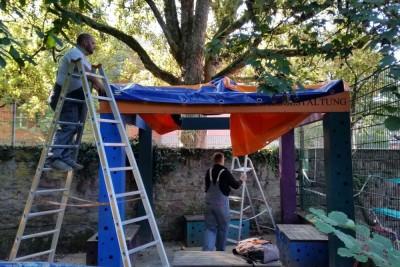 Kita St. Matthias Trier - Ein Dach für unser Pavillon