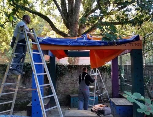 Kindertagesstätte St. Matthias: Ein Dach für unser Pavillon