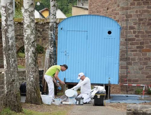 Grundschule am Biewerbach Trier: Renovierung unseres Bauwagens